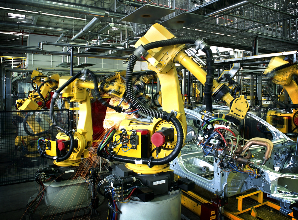 Industrial Robots, yellow