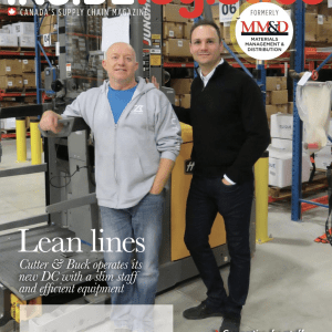 M1PR Client Unex Manufacturing on the Cover of Inside Logistics