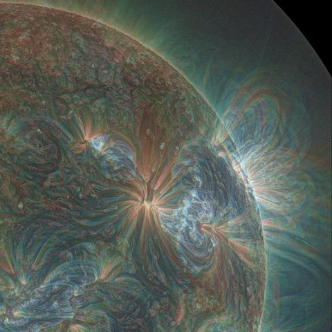 NASA Sun Magnetic Field GSFA colors