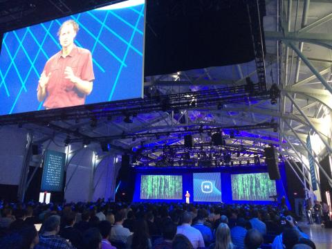 Facebook F8 keynote presentations, photo credit @jimcaruso