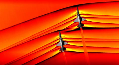 Supersonic Shockwave by NASA T-38 Jets Show Precise Timing & Position