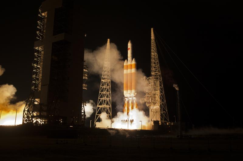 NASA Rocket Launch white and orange