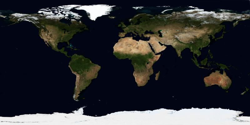 NASA World Topographic Map